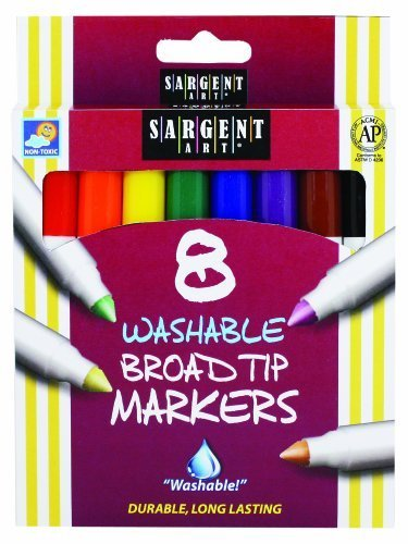 8-Count Washable Broad Conical Tip Assorted Set by Sargent Art ()