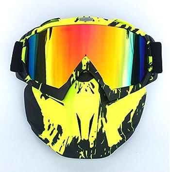HCMAX Motocicleta Gafas de Moto Desmontable Mascara Facial Casco Bicicleta ATV MX Gafas para Desierto Fuera del Camino Equitaci/ón Carreras Se Adapta a Hombres Mujeres