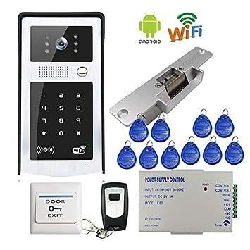 Amazon com : Lock Door With Wifi Wireless Video Intercom Waterproof