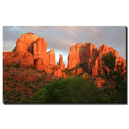 ArrnyART Modern Abstract Sedona Rock Print Canvas Oil Painting for Home Wall Art Decor Living Room Bedroom Decoration 10X16 -