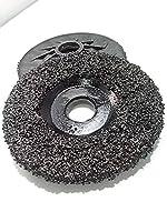 "5 Pack of Ultra Zek Wheels GRIT 16 Grinding Silicon Carbide Heavy Duty Discs Threaded 5/8""-11 - Diameter 4.5"""