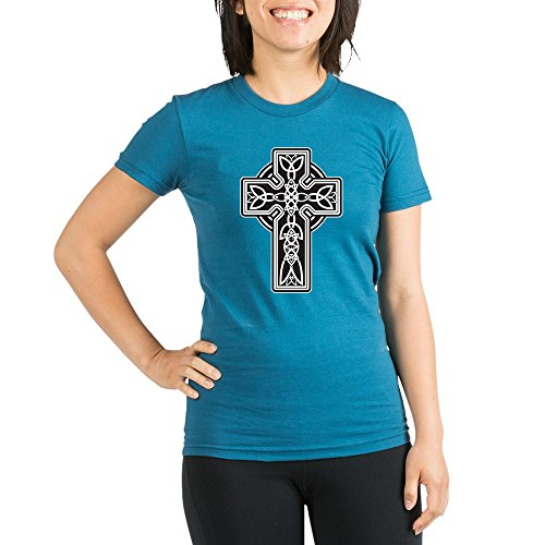 Royal Lion Org Women's Fitted T-Shirt Dk Celtic Cross - Galaxy, Medium