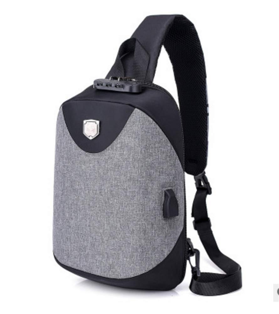 BEIBAO Ein-Schulter-Diagonalpaket USB-Aufladung für Männer Große Brusttasche Mode Sport-Diebstahlschutztasche