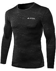 AMZSPORT Herren Kompressions-Shirt langärmlig Funktionsshirts Baselayer Langarm