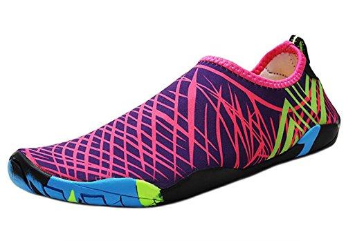 DADAWE Unisex Water Socks Aqua Shoes Purple
