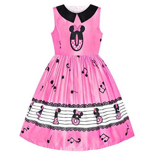 Sunny Fashion Girls Dress Birthday Princess Musical Note Party Size ()