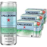 S.Pellegrino Sparkling Natural Mineral Water, 11.2 fl oz. Cans (Pack of 24)