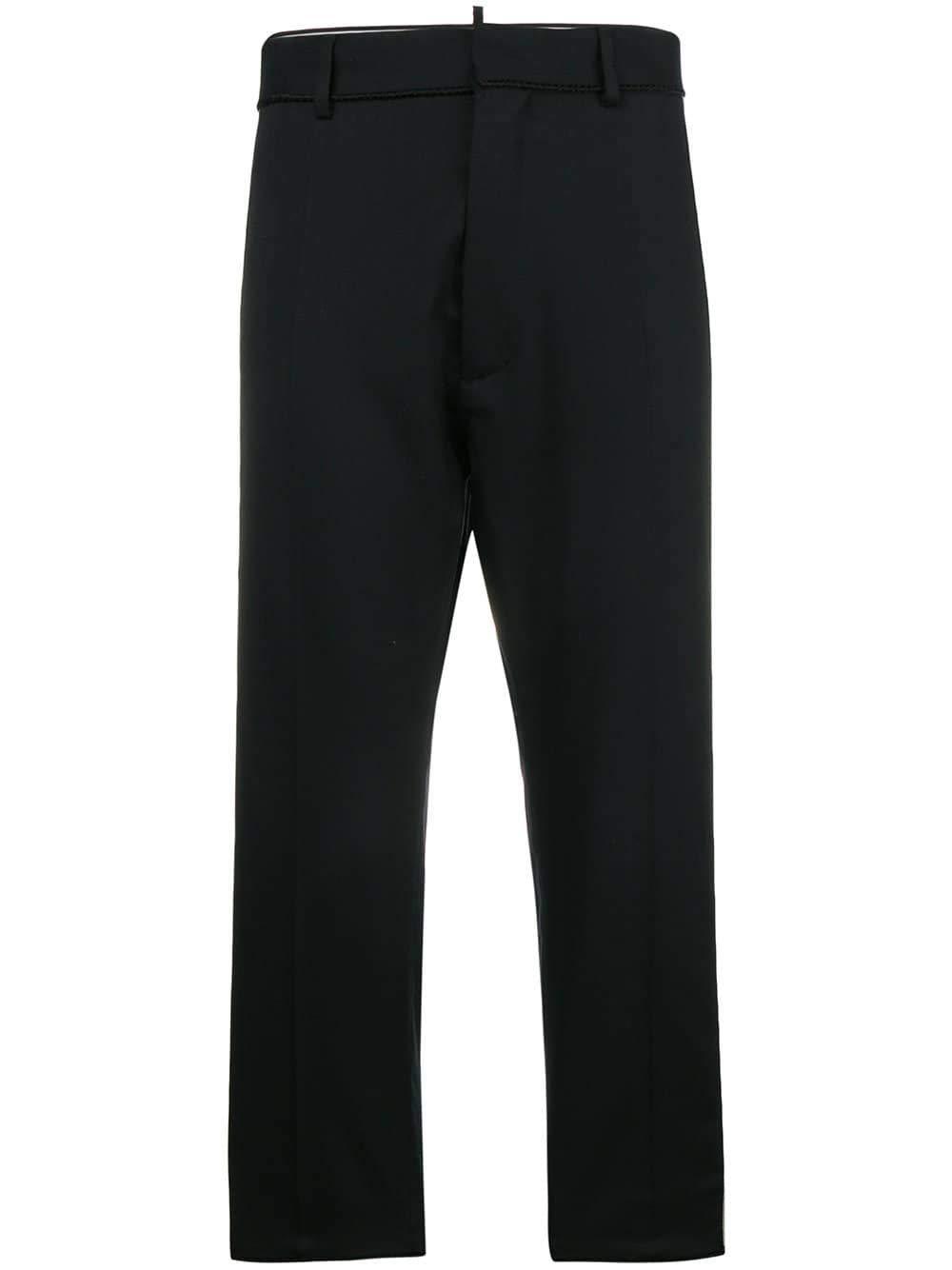 Brand Size 44 DSQUARED2 Women's S72KA0845S42916900 Black Wool Pants