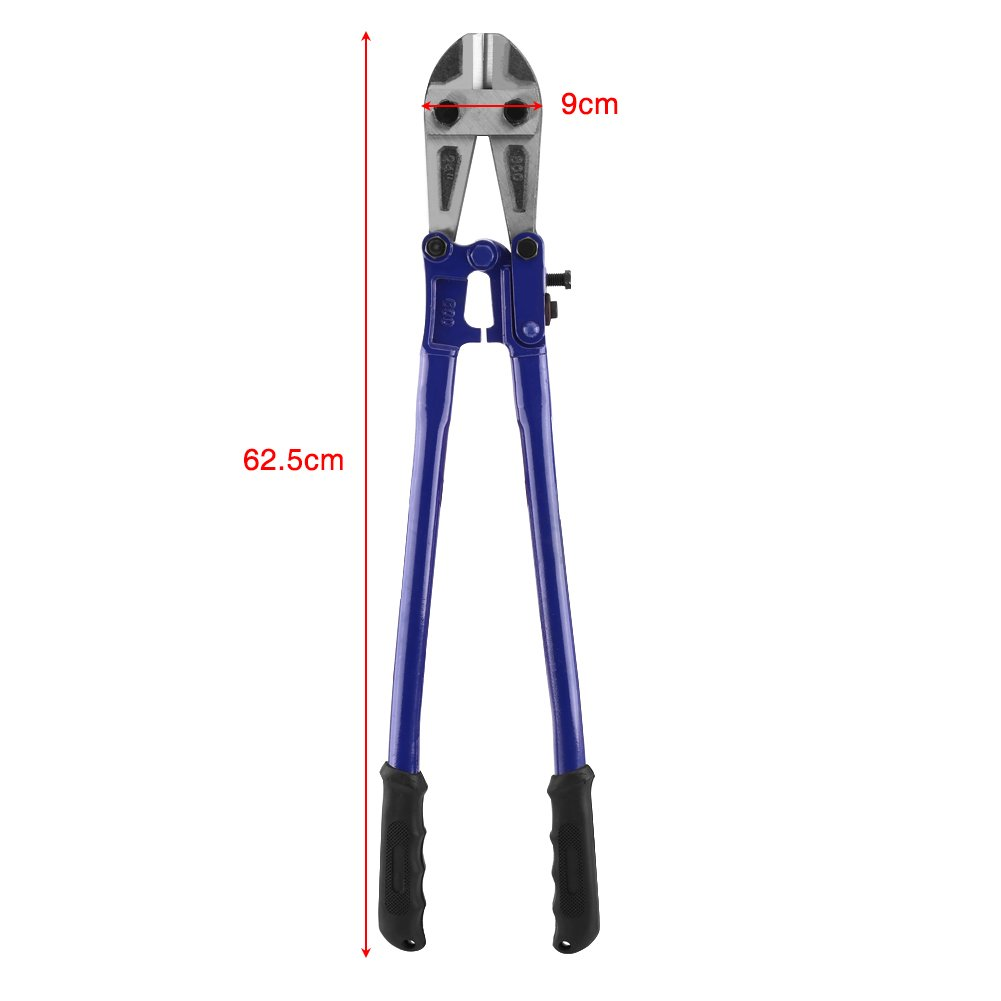 Bolt and Wire Cutter, 24'' High Carbon Steel Wire Rope Bolt Lock Cutter Jaws Chain Lock Cable Cut Padlock Tool Hand Jaws Blades Chain Wire Fence Cable Rebar Wire Cutter With Plastic Handle Grip by Yosoo (Image #2)