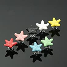 ePro Multicolor Cute Knobs for Childrens Girls Ceramic Handles Pulls for Kitchen Furniture Drawer Cabinet Dresser Closet Wardrobe Cupboard Vanities with Screws New Set (Starfish)