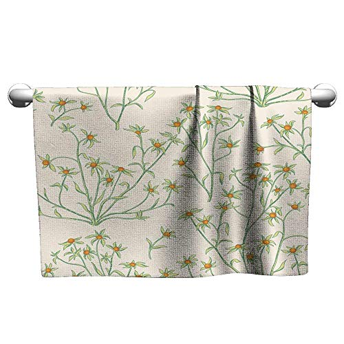 Andasrew Custom Towel Floral Seamless Pattern Flower Background Flourish Wallpaper with Berries and Flowers,Towel Bras for Women ()