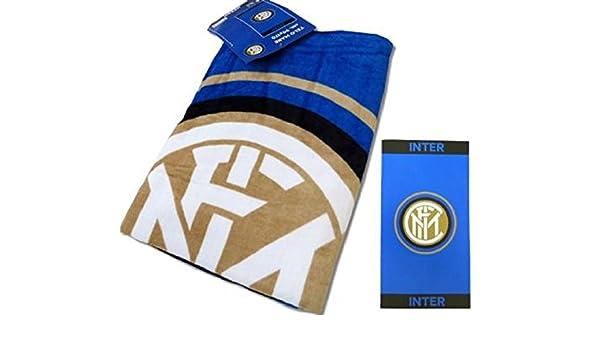 Toalla de playa 90 x 170 grande Inter producto oficial FC internacional *02641 fútbol: Amazon.es: Hogar