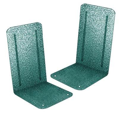Acrimet Premium Metal Bookends Metallic Finishing (Heavy Duty) (Green Platinum) (1 Pair)