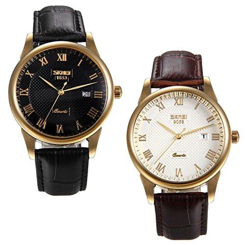 Lancardo Reloj Comercial Analógico de Original Cuarzo Japonés Multifunciones de Calendario Impermeable de 30M Pulsera...