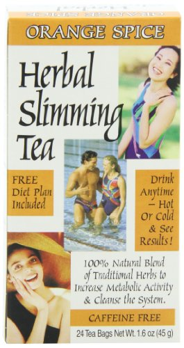 21st Century Tea (21st Century Slimming Tea, Orange Spice, 1.6 Ounce, 24 Count)