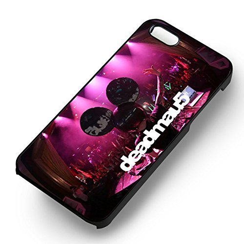 Unique Deadmau5 On Stage pour Coque Iphone 5 or Coque Iphone 5S or Coque Iphone 5SE Case (Noir Boîtier en plastique dur) T1S4GO