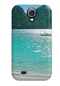 Hot Tpu Cover Case For Galaxy/ S4 Case Cover Skin - Beach