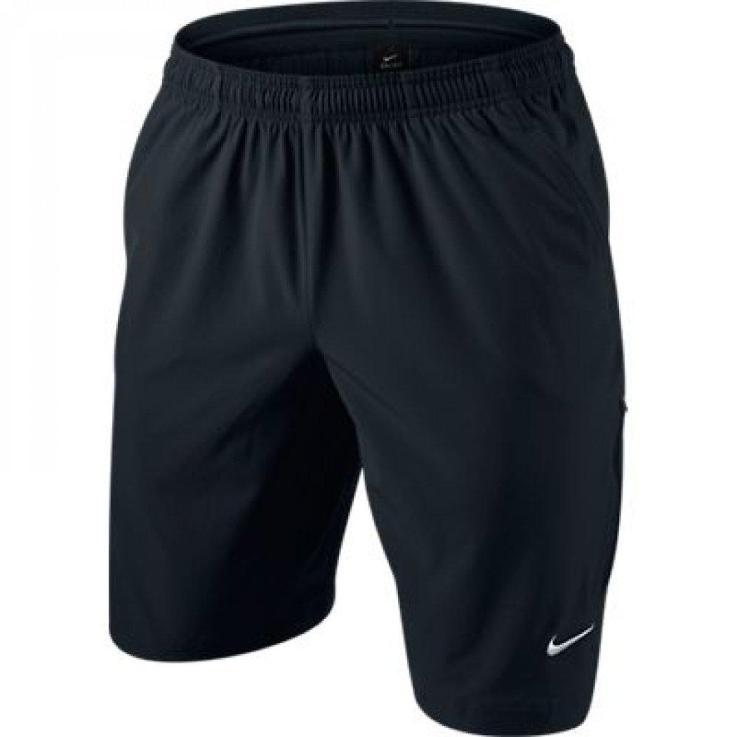 Nike Men's N.E.T. 11 Inch Woven Short (Black/White, Small)