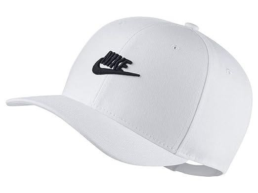 c70a415f Nike Men's U NSW CLC99 CAP FUT SNAPBACK Hat, White/Black, One Size ...