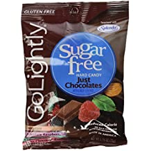 "Go Lightly Sugar Free Hard Candy ""Just Chocolates"" Assortment, 2.75 oz bag, Kosher"