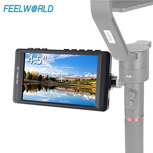 Focus Hd Camera - FEELWORLD FW450 4.5 Inch DSLR On Camera Field Monitor 4K HDMI Input Output Small HD Focus 1280x800 Video Assist Ultra Lightweighi External LCD Display