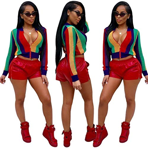 Fit Manica Donna Rainbow Con Outerwear Giaccone Allentato Primaverile Eleganti Grazioso Cerniera Corto Slim Lunga Autunno Rot Giacca Colors Fashion Cappotto Stlie wqqFXYrE