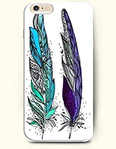 SevenArc Apple iPhone 6 4.7' 4.7 Inches Case Paisley Pattern ( Blue and Purple Feathers )
