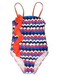 Girls One Piece Swimsuit UPF 50+ Sun Protection Swimming Suit Ruffle Beachwear
