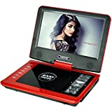 SONADY Portable DVD Players Red with 9.8''screen Supports SD Card and USB, AV inout Game, FM, Copy Function