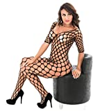Familizo Sexy Fishnet Open Crotch Corest Body stocking Bodysuit Tights Lingerie for Women Sex