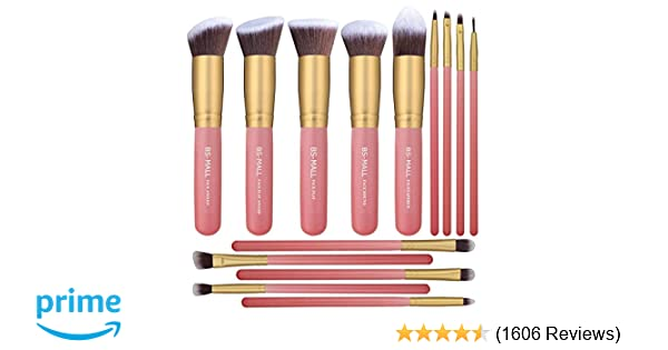 Amazon.com: BS-MALL New 14 Pcs Makeup Brushes Premium Synthetic Kabuki Makeup Brush Set Cosmetics Foundation Blending Blush Eyeliner Face Powder Brush ...