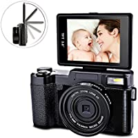 Digital Camera Camcorder Video Camcorders Vlogging Camera Full HD 1080p 24MP With Retractable Flash Light With UV Lens