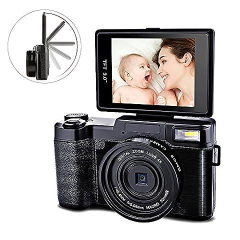 Digital Camera Camcorder Video Camcorders Vlogging Camera Full HD 1080p 24MP With Retractable Flash Light With UV Lens (Digital Cameras)