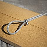 Windscreen4less Shade Sail Wire Rope and 8 Pcs