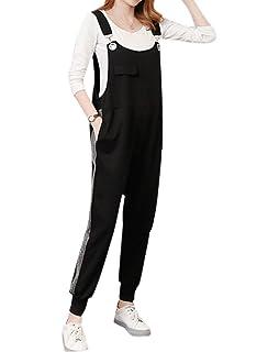 Mutterschaft Beil/äufig Lange Hosen Multi Pocket Denim Bleistift-Hose zhxinashu Schwangere Frau Overall Lose Jeans