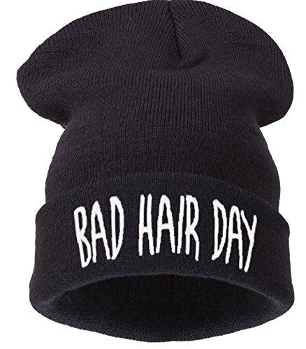 Size Hair Nero 4sold Men Bad Universal Day Beanie Black wwzqIaS