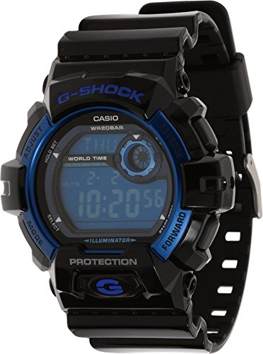 Casio Men's G8900A-1CR G-Shock Black and Blue Resin Digital Sport Watch