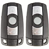 SCITOO Keyless Entry Kit, 2X New Uncut Replacement w/Chip fit BMW 1 3 5 6 7 Series KR55WK491 Smart Remote keyless Key Fob