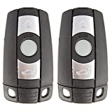 2012 bmw x5 keyless key - SCITOO Keyless Entry Kit, 2X New Uncut Replacement w/Chip fit BMW 1 3 5 6 7 Series KR55WK491 Smart Remote keyless Key Fob