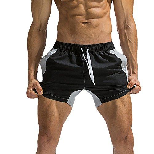 (Mens Hybrid Board Shorts,Shybuy Breathable Swim Trunks Pants Swimwear Beach Shorts Slim Wear Color Stitching)