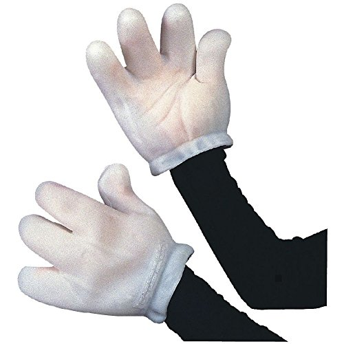 White Vinyl Gloves Costume (Vinyl Cartoon Gloves White Adult Costume Accessory Adult Halloween)