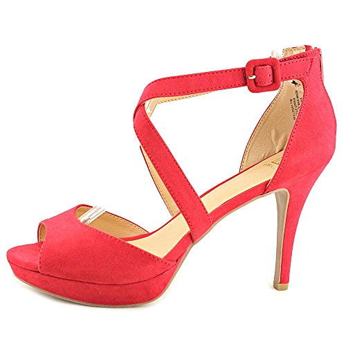 Casual Ankle Material Red Suede Sandals Helenah Girl Womens Open Toe Strap wqU0Yw