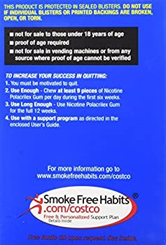 Kirkland Signature Quit Smoking Gum, 2 Mg, 380 Count 6