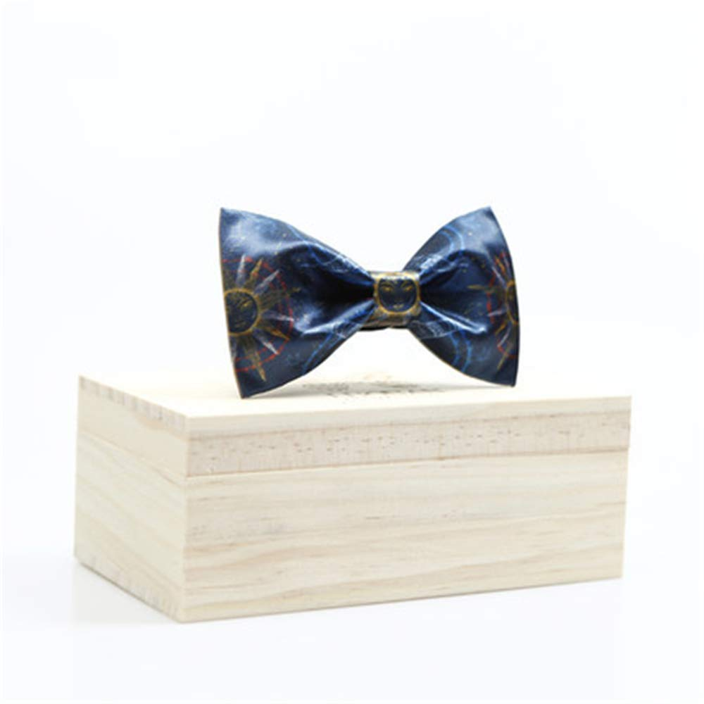 Dig Dog Bone Mens Tie Classic Tuxedo Sun Moon Print Bow Tie Adjustable