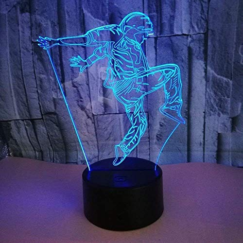 Optical Illusion 3D Dance Night Light 7 Colors Changing USB Power Touch Switch Decor Lamp LED Table Desk Lamp Children Kids Brithday Christmas Xmas Gift … by YTDZ