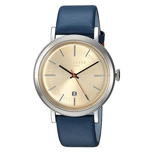 Ted Baker Men's 'CONNOR' Quartz Stainless Steel and Leather Casual Watch, Color:Blue (Model: - Ted Mens Baker Watches