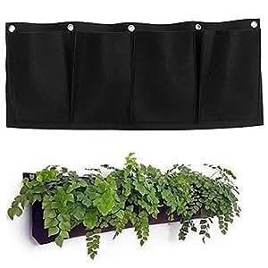 Flor de interior y exterior para vertical bolsas de crecimiento. El cultivo de contenedor de jardinería de plantación de bolsas de colgar en la pared por hongtian