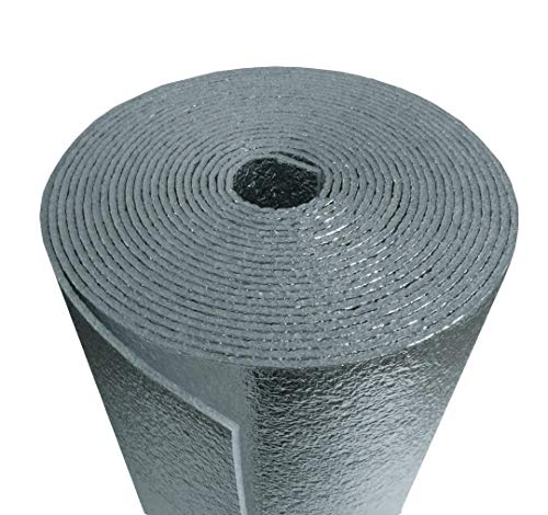 6inch x 25ft (6x25) NASATECH Reflective Foam (not cheap bubble) Spiral Duct Wrap Seam Sealer Pipe Wrap Faucet Insulation Weatherization (6