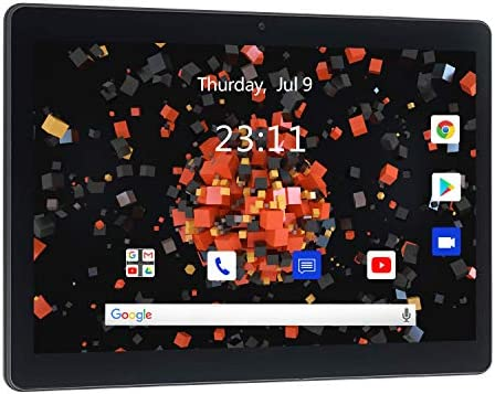 Tablet 10 Inch, Android 10 Tablet, 3G Phablet with Dual Sim Card & 5MP Camera Tablet PC, 2GB+32GB Storage, 1280x800 IPS HD Touchscreen, Quad Core, WiFi, Bluetooth, GPS, 2G/3G Phone Network(Black)