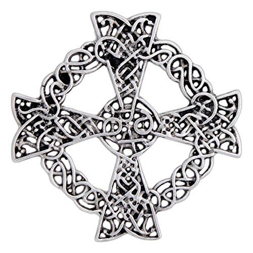 Ashling Aine Celtic Cross Pin/Pendant -